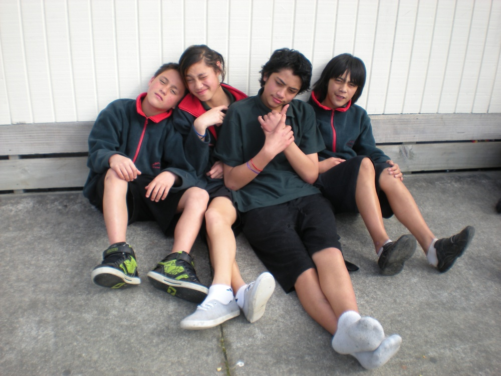 from right: teare, benjy, lah and..em..i can't remember..