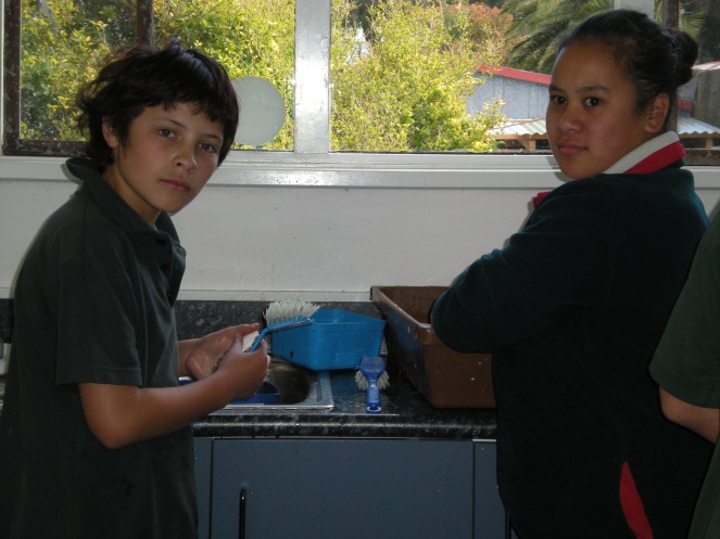 nick and ruby..while preparing the dye..