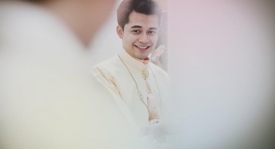 clad on his ceremonial outfit..he's lawfully wedded me :)