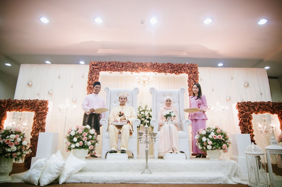 our small and humble reception..with handsome best man and beautiful bridesmaid..
