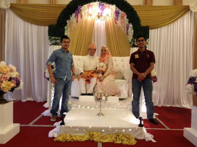 Erin & Ammar reception..credit to mr boyfriend for taking sharing this photo for me :)
