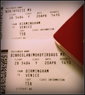 our new tickets that cost us nearly 200pounds..this is my first experience of missing a flight..i think i should put highly defined photos when i write for travel purposes..just like the other travel writers..